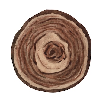 Акварель текстура древесины деревянный ломтик