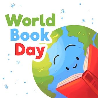 Concetto di giornata mondiale del libro dell'acquerello