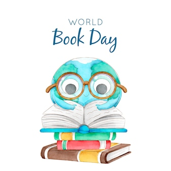 Watercolor world book day