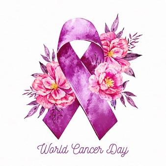 Всемирный день борьбы с раком акварель