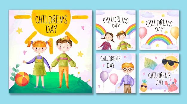 수채화 세계 어린이 날 인스타그램 게시물 모음