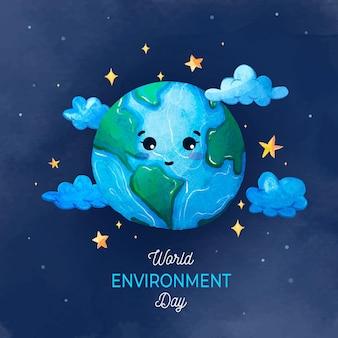 Giornata mondiale dell'ambiente dell'acquerello
