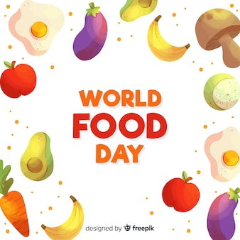 Watercolor world food day