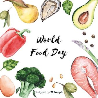 수채화 세계 음식의 날