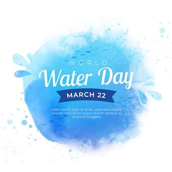 Evento della giornata mondiale dell'acqua dell'acquerello