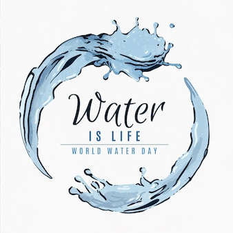 Watercolor world water day event