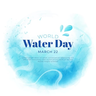 Watercolor world water day illustration