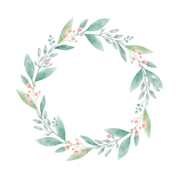 Watercolor wreath graphic vector design