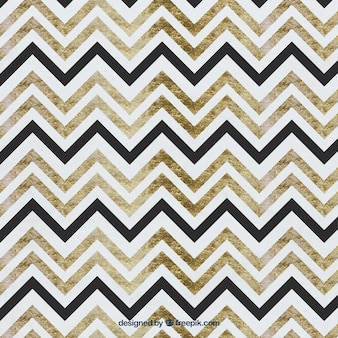 Watercolor zig zag pattern