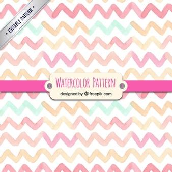 Watercolor zigzag pattern