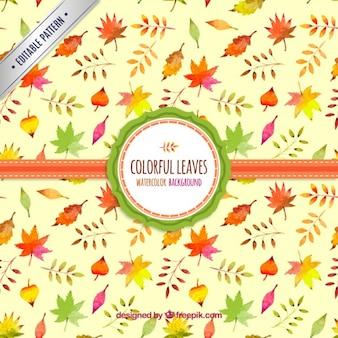 Акварели листья фон