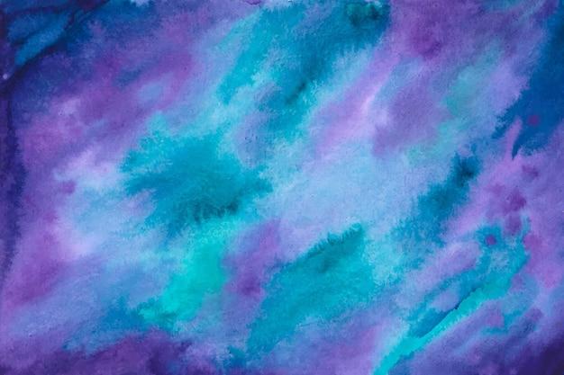 Акварельный фон в фиолетовый и синий