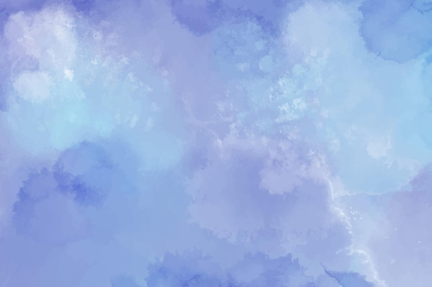 Watercolour background with blue stains