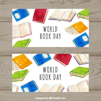 Watercolour banners for the world food day