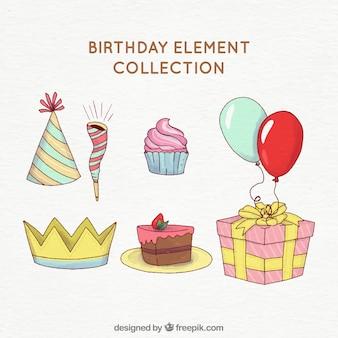 Watercolour birthday party attributes
