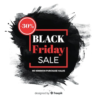 Watercolour black stain black friday
