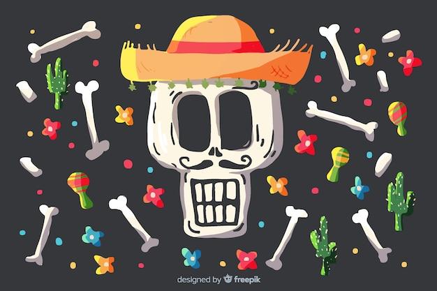 Watercolour día de muertos background