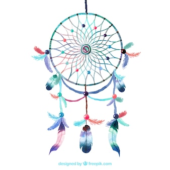 Watercolour dreamcatcher