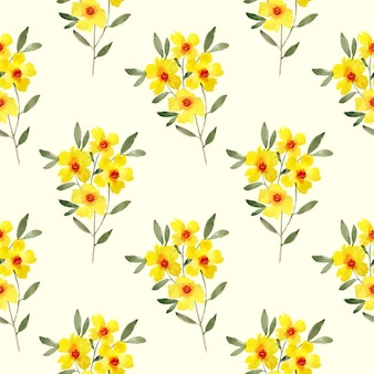 Watercolour floral pattern design