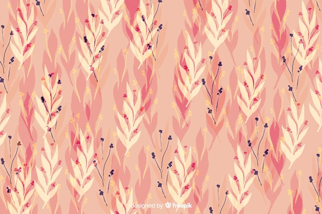 Watercolour floral pink seamless background
