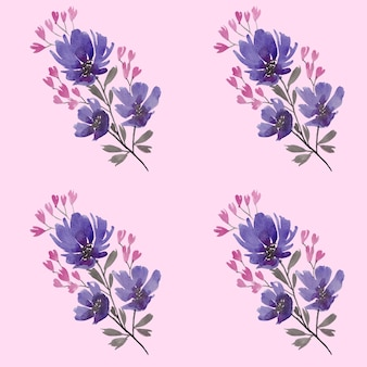 Watercolour floral repeat pattern