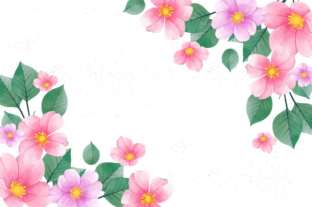 Watercolour flowers background in pastel colours