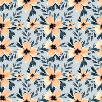 Watercolour flowers repeat pattern