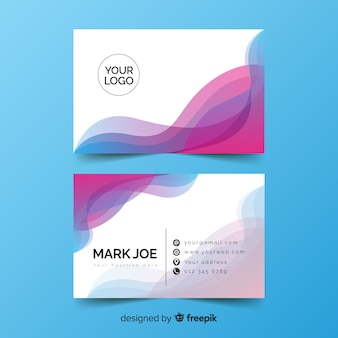 Watercolour gradient effect business card