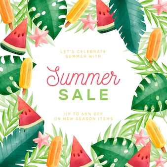 Watercolour hello summer sale