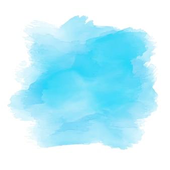 Акварель в оттенках синего