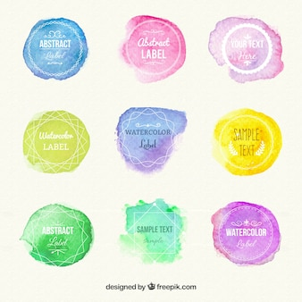 Watercolour label collection