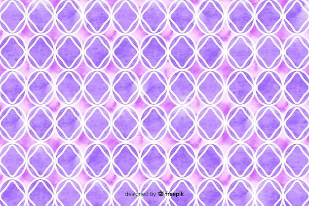 紫の色合いの水彩モザイクの背景