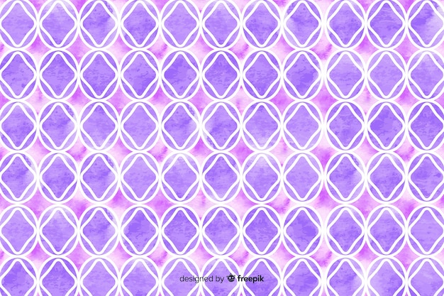 Watercolour mosaic background in violet shades