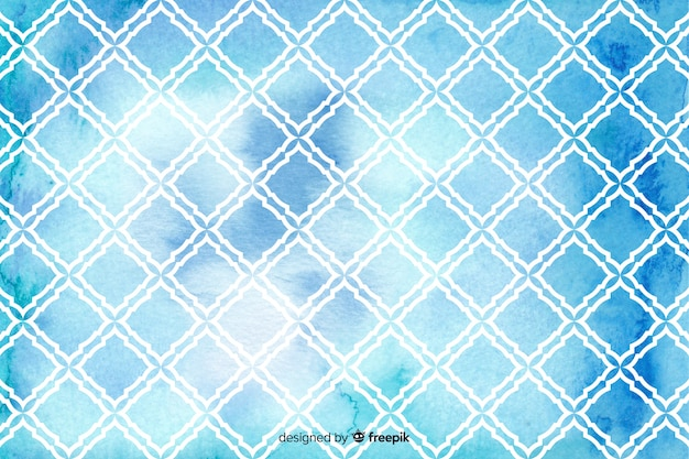 Watercolour mosaic diamond tile background