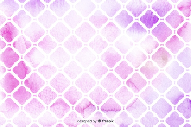 Watercolour mosaic pink tiles background