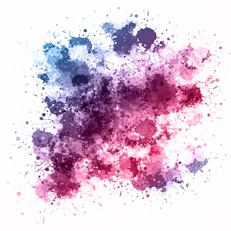 Watercolour splatter background