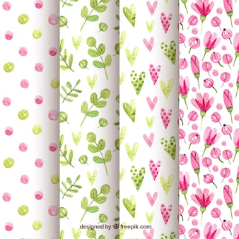 Watercolour spring patterns