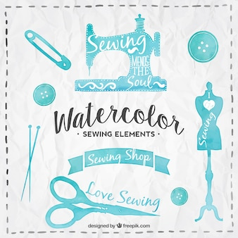 Watercolour tailor elements