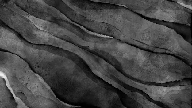 斜めの静脈と黒の水彩画のテクスチャ
