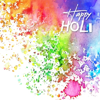 Watercolour vivid colours holi festival with stains