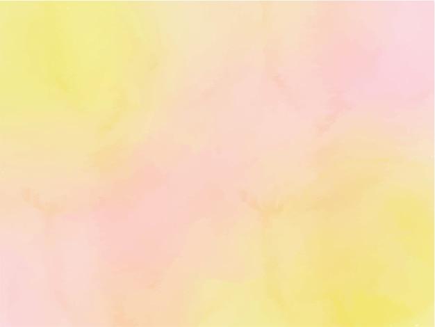 수채화 노란색과 분홍색 선염 추상적 인 배경