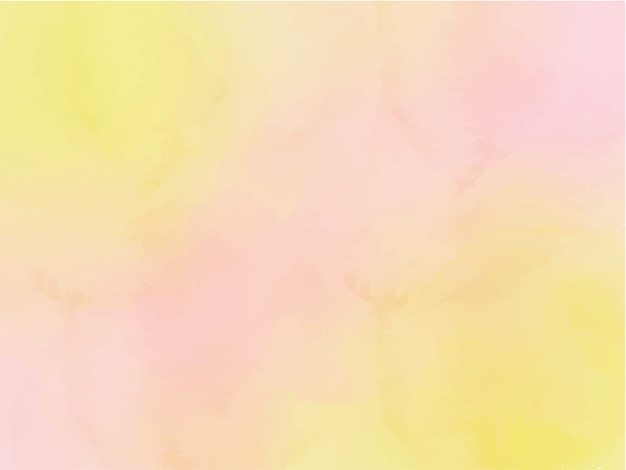 Watercolour yellow and pink ombre abstract background
