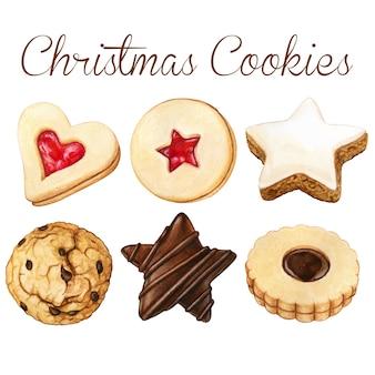 Watercolro high quality christmas cookies