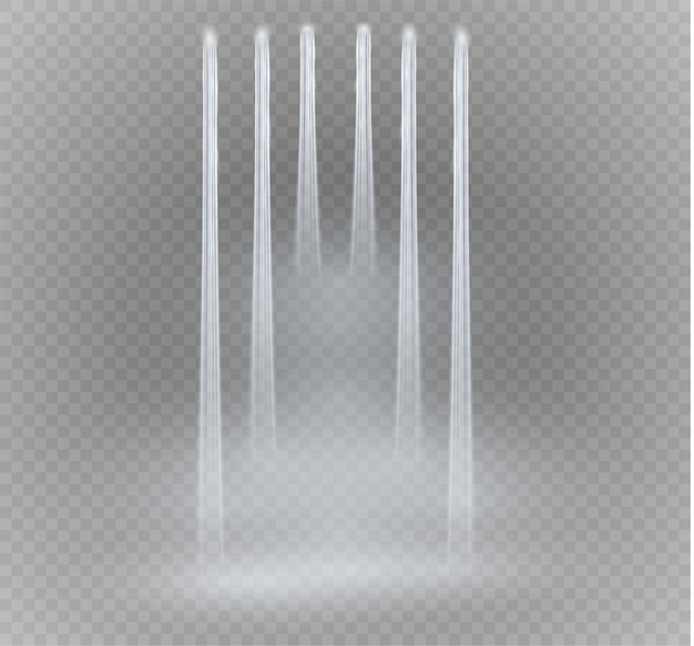 Waterfall, isolated on transparent background. illustration. a stream of water