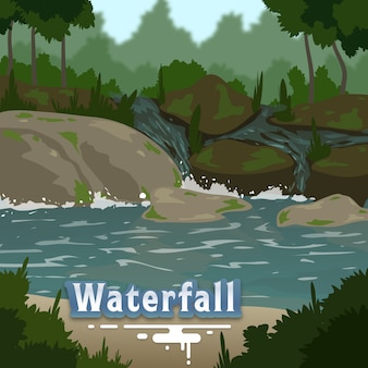 Waterfall nature background