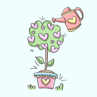Watering can plant