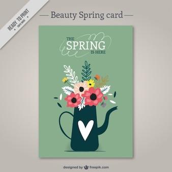 꽃 카드로 물을 수