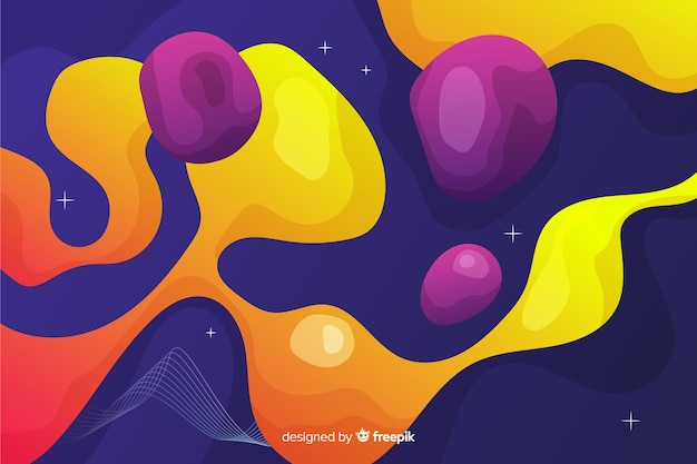 Waterly shapes with trendy gradients
