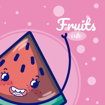 Watermelon cute fruit cartoons