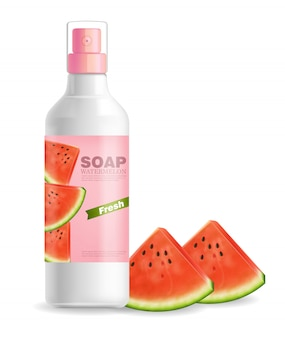 Watermelon flavor lotion label